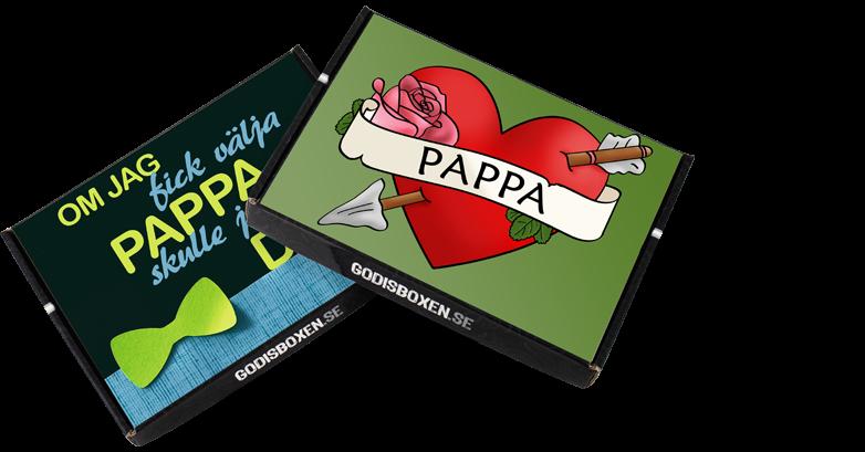 presentboxar med fars dag hälsning